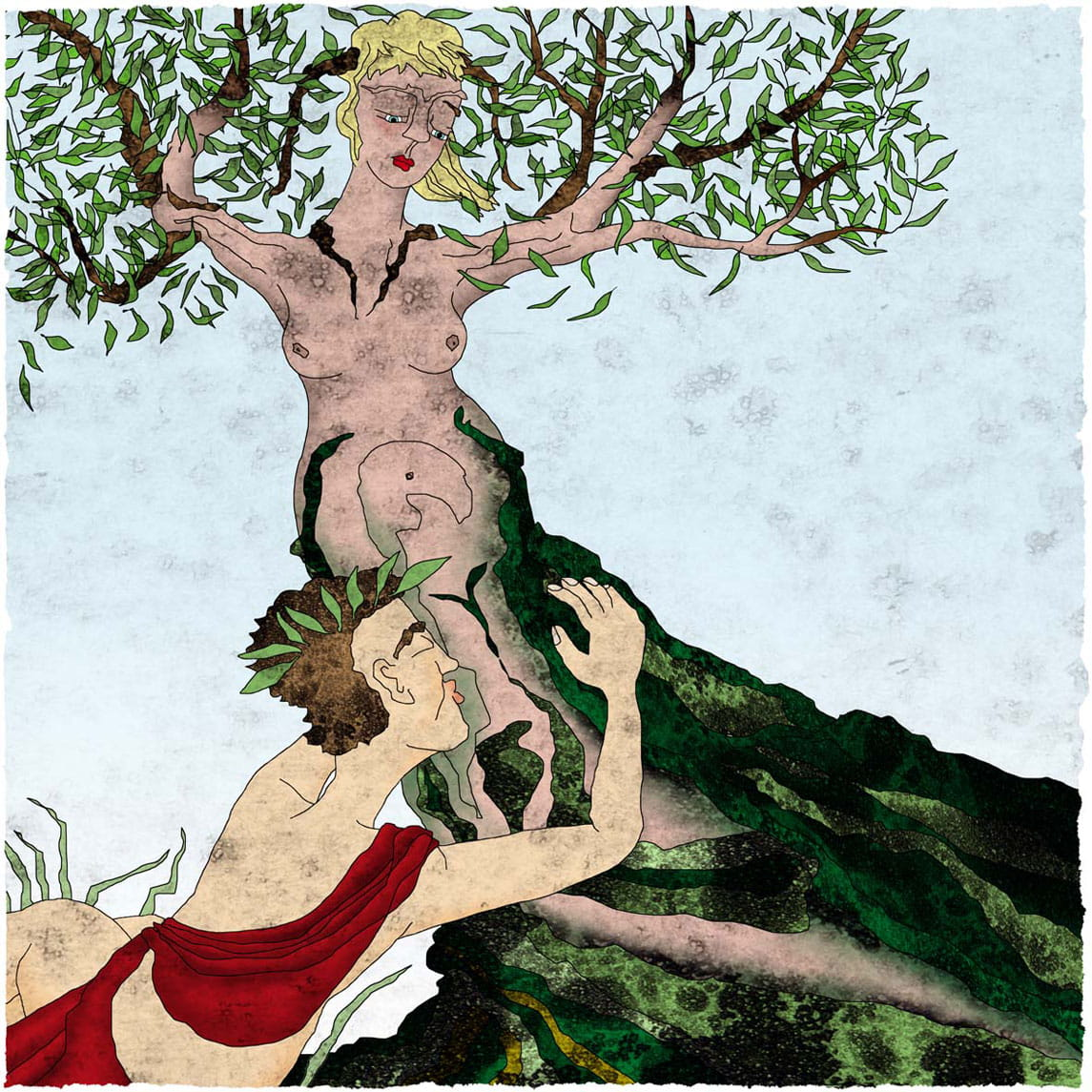 Griekse mythologie, Greek mythology, Apollo en Daphne, Apollo and Daphne